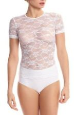 New Women's COMMANDO White Floral Lace Tee size S