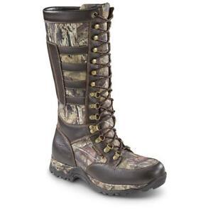 New Mens Leather Waterproof Side-zip Snake Boots Sizes 8-14 Mossy Oak