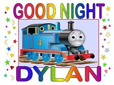 "THOMAS the TRAIN ""GOODNIGHT"" Personalized Any NAME Super Soft Great Gift"