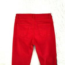 Zara Women Jeans Red Skinny Stripe Size 10 X 27 Inseam 4-13