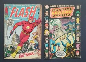 FLASH #200, JUSTICE LEAGUE OF AMERICA #83 • LOWER GRADES