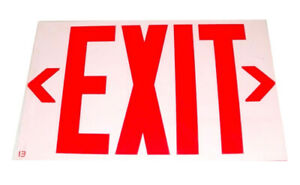 """2 Emergency Exit Signs for Doorways & Offices 