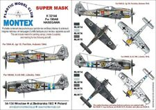 Montex Super Mask 1:32 Fw-190 A-8 Snake for Hasegawa Spraying Stencil #K32144