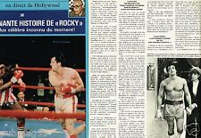 Coupure de Presse Clipping 1977 (4 pages) Rocky Sylvester Stallone
