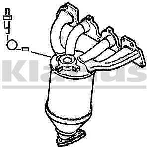 Klarius Catalytic Converter Catalyst Cat 321710 - BRAND NEW - 5 YEAR WARRANTY