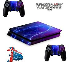 LIGHTNING PS4 SLIM**TEXTURED VINYL ! **PROTECTIVE SKINS DECALS WRAP STICKERS