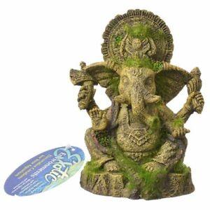 LM Exotic Environments Ganesha Statue with Moss Aquarium Ornament