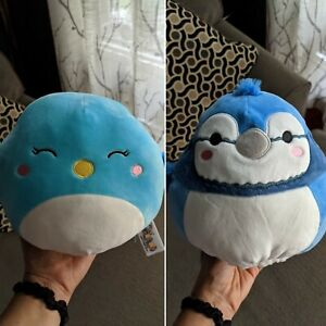 """Squishmallows Flip A Mallow Babs Bluejay Bebe 8"""" BNWT Canadian Exclusive"""