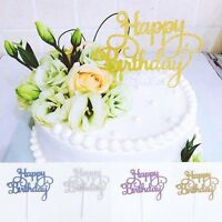 Banner Party Decor Favors Cake Topper Happy Birthday Card