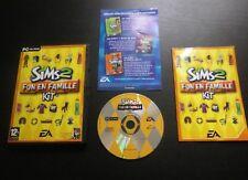 JEU PC CD-ROM : Les Sims 2 FUN EN FAMILLE Kit (Add on EA COMPLET envoi suivi)