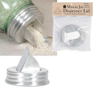 Mason Jar Aluminum Grain Rice salt Dispenser  LID