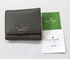 Kate Spade New York Jackson Street Jada Pebbled Leather Trifold Wallet Gray $98