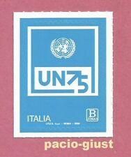 ITALIA 2020  ONU Organizzazione Nazioni Unite  Tariffa B3  FRANCOBOLLO SINGOLO