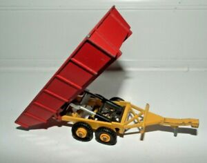 MATCHBOX SUPERKINGS K-35 TIPPING FARM TRAILER 1978 VGC RED & YELLOW