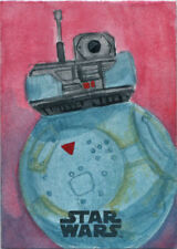 Star Wars Last Jedi Sketch Card of 2BB-2 by Asia Ellington