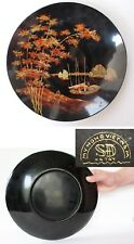 Vtg 1960's Large Vietnam MYNGHE Hand paint, Lacquered Wooden Plate