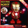 Dance Hero Man Cool Toy Figure Dancing Robot w/LED Flashlight & Music Sound Gift