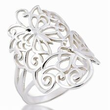BUTTERFLY RING 925 STERLING  SILVER  .US=7 UK=N