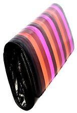 Lee Sands Medium Multi Colored Eelskin Flap Front Clutch Purse