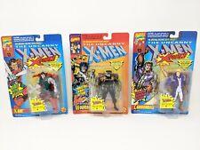 Toy Biz 1993 Marvel Uncanny X-Men 3 Figure Lot: Wolverine, Cannonball, & Kane