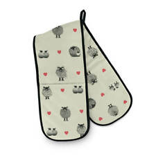Double Oven Gloves - Sheep / Hearts - Country Style Gift - Lucy Pittaway