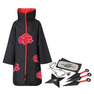 Akatsuki Uchiha Itachi Anime Cosplay Unisex Costume Ninja Naruto Cloak Cosplay