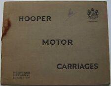 Hooper Motor Carriages Coachwork 1920s Original Prestige Brochure( Rolls Royce)