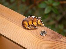 Armadillo Silver Tone Metal Lapel Pin Pinback