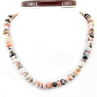 299.60 CTS EARTH MINED PINK AUSTRALIAN OPAL ROUND UNTREATED BEADS NECKLACE (RS)