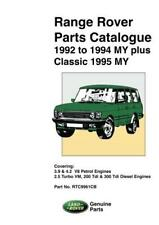 RANGE ROVER CLASSIC (92-95) PARTS LIST CATALOGUE Owners Workshop Manual Handbook