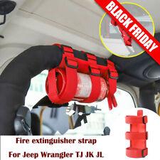 Roll Bar Fire Extinguisher Mount Holder Strap For Wrangler Jk Tj Jl 1997-2020 1x