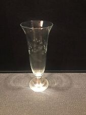 Vintage Alvin Crystal With Sterling Flower Vase #8289 11 1/2'' Tall
