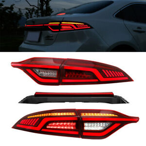 RED For Toyota US Corolla 2020-2021 Red LED Rear Lights Assembly LED Tail Lamps