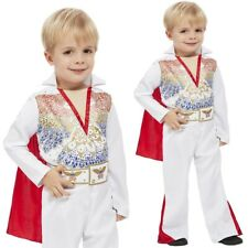 Elvis Presley Costume Childrens Toddlers Star Fancy Dress Outfit Age 1-4