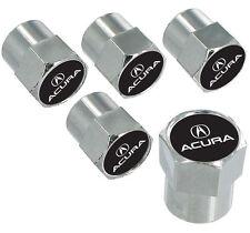 Acura Logo And Wordmark Chrome Valve Stem Caps 5 Caps