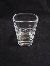 Jack Daniels Old No. 7 With White Lettering & Embossed Bottom Square Shot Glass