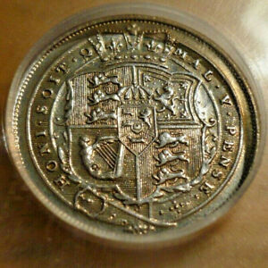 1816 Great Britain sixpence, almost uncirculated, ICG certified. Shiny!