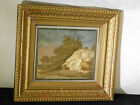 Antique c19thC Hand Made Tapestry Landscape Embroidery of Village