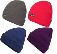 Womens Pro Climate Genuine Thinsulate Lined Beanie Hat Plain Marl or Sparkle