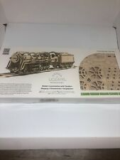 UGears Locomotive with Tender - Wooden Mechanical Model - 443 Pieces