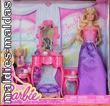 Barbie Schwestern Barbie & Chelsea Vorbereitung zum Ball BJX77 NEU/OVP Puppe