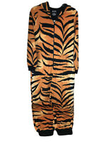 Nick Nora Tiger Cat Hooded One Piece Pajama Small Sleepwear Costume Body Suit S