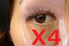 4X 3in1 Pink Eyelash Mascara Applicator Guard Brush Comb Makeup Tool USA Shipper