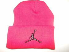 AIR JORDAN Red Knit Winter Hat(Fold Up Style)-FREE US SHIPPING!!