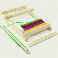 Weaving Loom Kids Toy Wooden Craft Traditional Hand Pretend Play Knitting CB