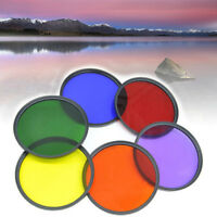 37mm ~ 82mm Full Color Filter For Camera Len Green Orange Red Purple Yellow Blue