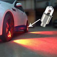 4x LED Libélula Coche Rueda Neumáticos vástago de la válvula de aire Tapa Lámpara Luz Roja