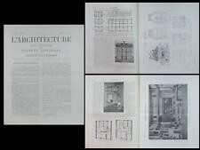 L'ARCHITECTURE N°11 1904 - LEON BENOUVILLE,