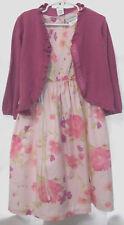 Girls 5 Rare Editions, colorful, sleeveless cotton dress & Carter's cardigan