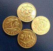 Set of 4 £1 Pound Coins Flower Emblems England Ireland Scotland Wales 2013-2014